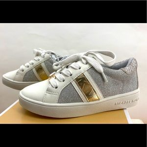 Micheal Kors little girls sparkle leather shoes 11